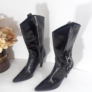 Nine West Patent Leather Boot Size 8